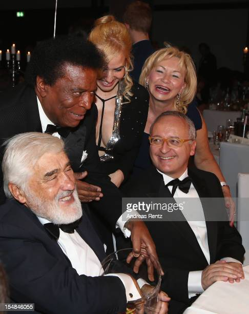 Roberto Blanco and Mario Adorf attend the 21st UNESCO Charity Gala 2012 on October 27 2012 in Dusseldorf Germany