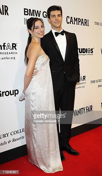 Roberto Bolle and Beatrice Carbone arrives at amfAR's second annual Cinema Against AIDS Rome at the Galleria Borghese on October 24 2008 in Rome Italy