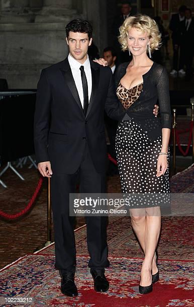 Roberto Bolle and Eva Herzigova attend the Dolce Gabbana '20 Years of Menswear' during Milan Fashion Week Spring/Summer 2011 on June 19 2010 in Milan...