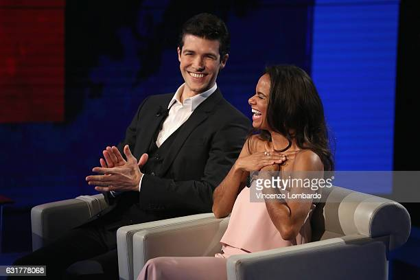 Roberto Bolle and Misty Copeland attend 'Che Tempo Che Fa' tv show on January 15 2017 in Milan Italy