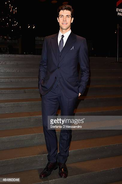 Roberto Bolle attends the DolceGabbana show during the Milan Fashion Week Autumn/Winter 2015 on March 1 2015 in Milan Italy