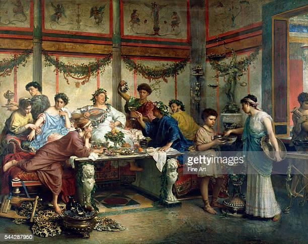 Roberto Bompiani A Roman Feast late 19th century oil on canvas 127 x 1638 cm The J Paul Getty Museum Los Angeles