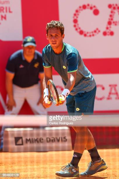 Roberto Carballes Baena from Spain in action during the match between Stefanos Tsitsipas from Greece and Roberto Carballes Baena from Spain for...