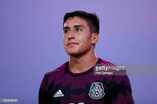 Roberto Carlos Alvarado Hernandez of Mexico looks on during a International Friendly Match between Mexico and Saudi Arabia on June 08, 2021 in...