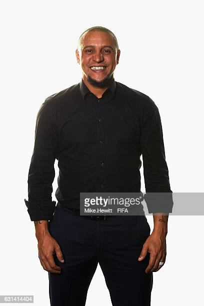 Roberto Carlos of Brazil poses for a portrait prior to The Best FIFA Football Awards at Kameha Zurich Hotel on January 9 2017 in Zurich Switzerland