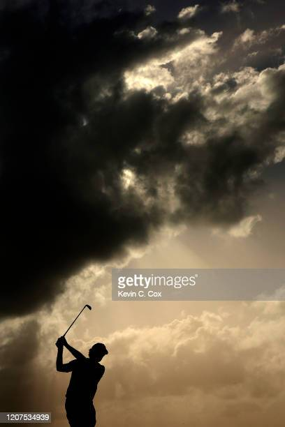 Roberto Castro plays his shot from the sixth tee during the first round of the Puerto Rico Open at Coco Beach Golf and Country Club on February 20...