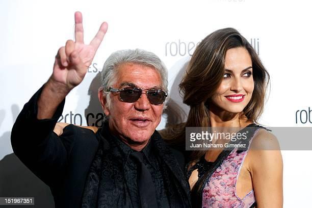 Roberto Cavalli and Ariadne Artiles attend Roberto Cavalli Boutique on September 13 2012 in Madrid Spain