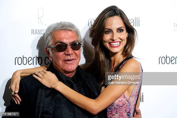 Roberto Cavalli and Ariadne Artiles attend Roberto Cavalli Boutique on September 13, 2012 in Madrid, Spain.