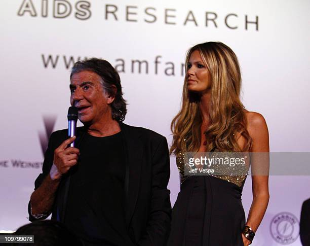 Roberto Cavalli and Elle Macpherson at amfAR's Cinema Against AIDS event presented by Bold Films the M*A*C AIDS Fund and The Weinstein Company to...