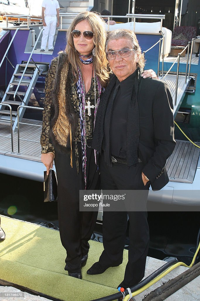 Roberto Cavalli and Eva Cavalli are seen during the 63rd Annual International Cannes Film Festival on May 20, 2010 in Cannes, France.