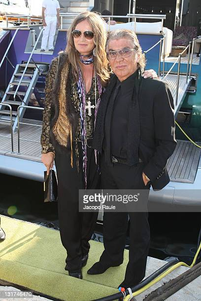 Roberto Cavalli and Eva Cavalli are seen during the 63rd Annual International Cannes Film Festival on May 20 2010 in Cannes France