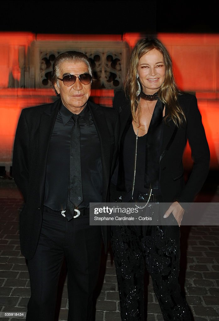 Roberto Cavalli and Eva Cavalli attend the Roberto Cavalli Celebrate 40 Party at 'Les Beaux-Arts' in Paris.