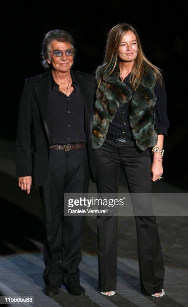 Roberto Cavalli and Eva Cavalli during Milan Fashion Week Autumn/Winter 2006 Roberto Cavalli Front Row at Arco della Pace Piazza Semipione in Milan...