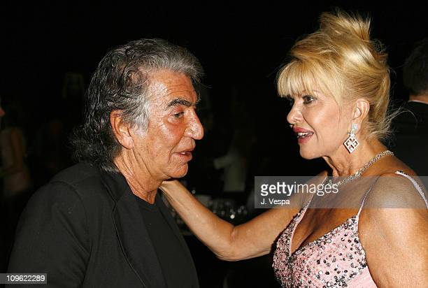 Roberto Cavalli and Ivana Trump during amfAR's Cinema Against AIDS Benefit in Cannes Presented by Bold Films Palisades Pictures and The Weinstein...