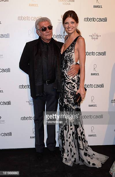 Roberto Cavalli and Natasha Yarovenko attend the opening of 'Roberto Cavalli' boutique on September 13 2012 in Madrid Spain