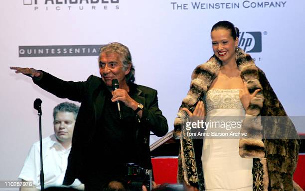 Roberto Cavalli and Petra Nemcova during amfAR's Cinema Against AIDS Benefit in Cannes, Presented by Bold Films, Palisades Pictures and The Weinstein...