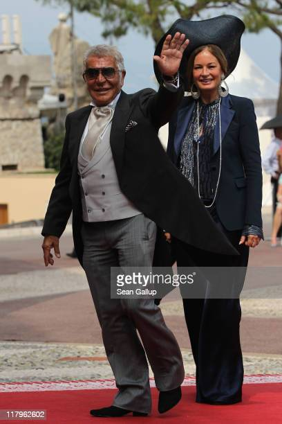 Roberto Cavalli and wife Eva Cavalli attend the religious ceremony of the Royal Wedding of Prince Albert II of Monaco to Princess Charlene of Monaco...
