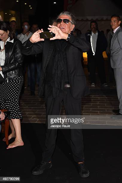 Roberto Cavalli attends the 'Roberto Cavalli Annual Party Aboard' Outside Arrivals at the 67th Annual Cannes Film Festival on May 21 2014 in Cannes...