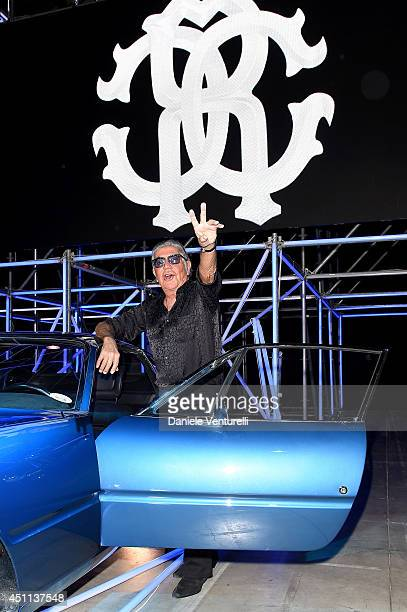 Roberto Cavalli attends the Roberto Cavalli show during the Milan Menswear Fashion Week Spring Summer 2015 on June 24 2014 in Milan Italy