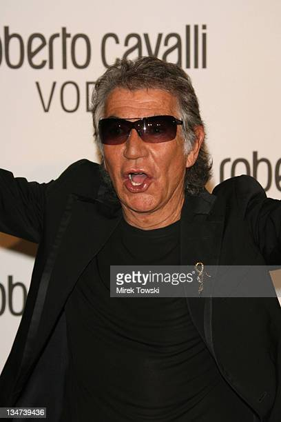 Roberto Cavalli during Robert Cavalli Vodka brand launch party at Private Residence in Holmby Hills in Holmby Hills California United States