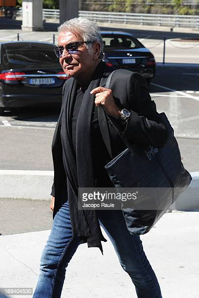 Roberto Cavalli is seen arriving at Nice airport during The 66th Annual Cannes Film Festival on May 24 2013 in Nice France