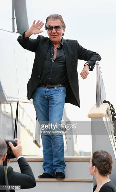 Roberto Cavalli is seen on his boat at the 64th Annual Cannes Film Festival on May 18 2011 in Cannes France