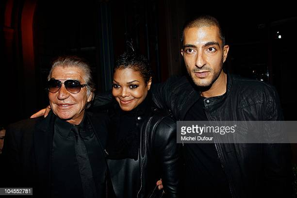 Roberto Cavalli Janet Jackson and Wissam Al Mana attend the Roberto Cavalli party 40 anniversary at Les BeauxArts de Paris on September 29 2010 in...