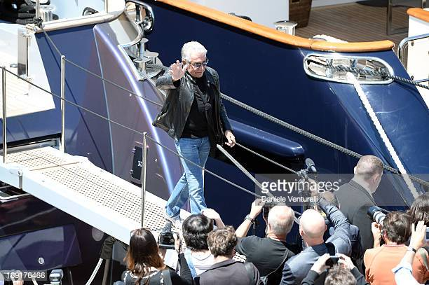 Roberto Cavalli leaves the 'Roberto Cavalli' yacht during The 66th Annual Cannes Film Festival on May 21 2013 in Cannes France