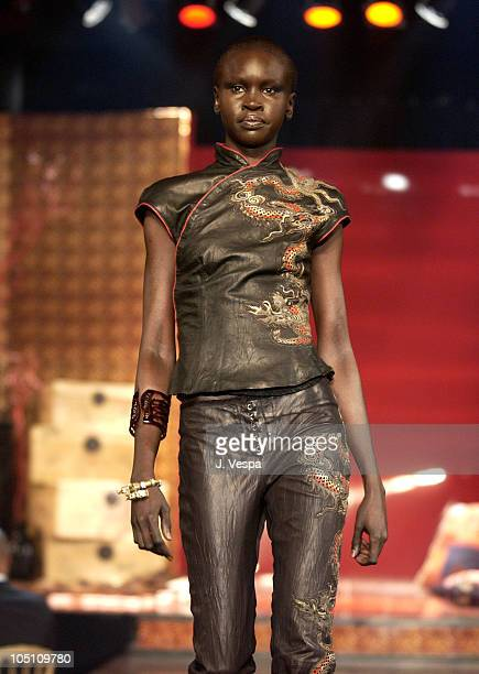 Roberto Cavalli model wearing jewelry by Chopard during 2003 Cannes Film Festival - Roberto Cavalli Fashion Show - Runway at Palm Beach in Cannes,...