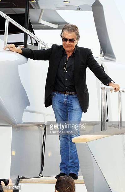 Roberto Cavalli sighting on his Yacht during the 64th Annual Cannes Film Festival on May 18 2011 in Cannes France