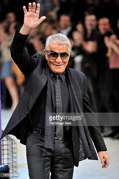 Roberto Cavalli walks the runway after his Just Cavalli show during the second day of the Charles Voegele Fashion Days on November 10 2011 in Zurich...