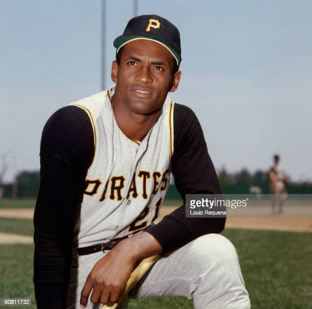 Roberto Clemente of the Pittsburgh Pirates poses for a photo circa 1968.