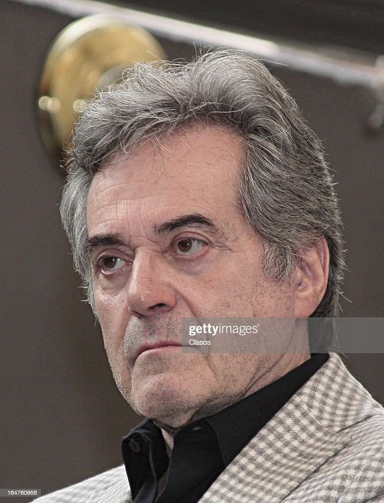 Roberto D'Amico of 'Los Arboles Mueren de Pie' poses during the press conference before the start of the shooting of the film on March 27, 2013, in Mexico City, Mexico.