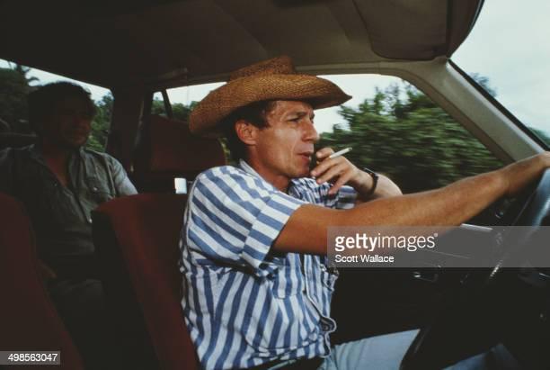 Roberto D'Aubuisson a Salvadoran rightwing politician death squad leader and a major in the Salvadoran Army during the Savadoran Civil War El...