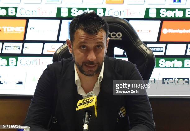 Roberto D'Aversa head coach of Parma Calcio during presse conference after the match between Ascoli Picchio and Parma Calcio at Stadio Cino e Lillo...