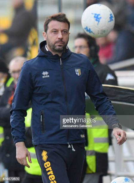 Roberto D'Aversa head coach of Parma Calcio during the Serie B match between Parma Calcio and Ascoli Picchio at Stadio Ennio Tardini on November 18...