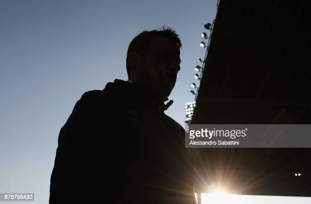 Roberto D'Aversa head coach of Parma Calcio looks on before the Serie B match between Parma Calcio and Ascoli Picchio at Stadio Ennio Tardini on...