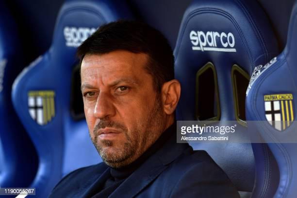 Roberto D'Aversa head coach of Parma Calcio looks on during the Serie A match between Parma Calcio and Brescia Calcio at Stadio Ennio Tardini on...