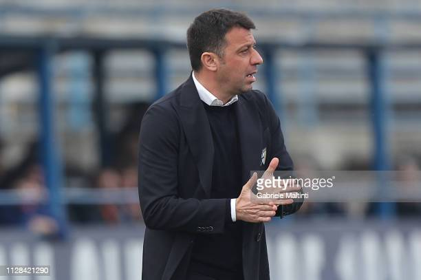 Roberto D'Aversa manager of Parma Calcio gestures during the Serie A match between Empoli and Parma Calcio at Stadio Carlo Castellani on March 2 2019...