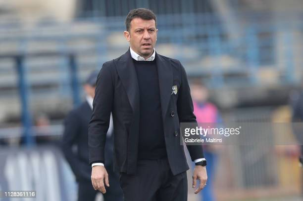 Roberto D'Aversa manager of Parma Calcio looks on during the Serie A match between Empoli and Parma Calcio at Stadio Carlo Castellani on March 2 2019...