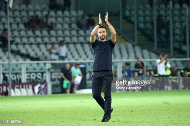 Roberto De Zerbi, head coach of Us Sassuolo, during the the Serie A match between Torino FC and Us Sassuolo Calcio. Torino Fc wins 2-1 over Us...