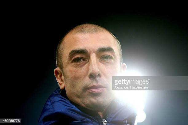 Roberto Di Matteo head coach of Schalke looks on prior to the UEFA Group G Champions League match between NK Maribor and FC Schalke 04 at Ljudski vrt...