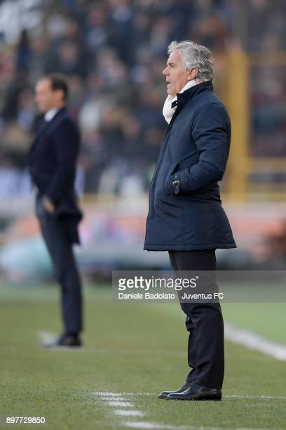 Roberto Donadoni during the Serie A match between Bologna FC and Juventus at Stadio Renato Dall'Ara on December 17 2017 in Bologna Italy