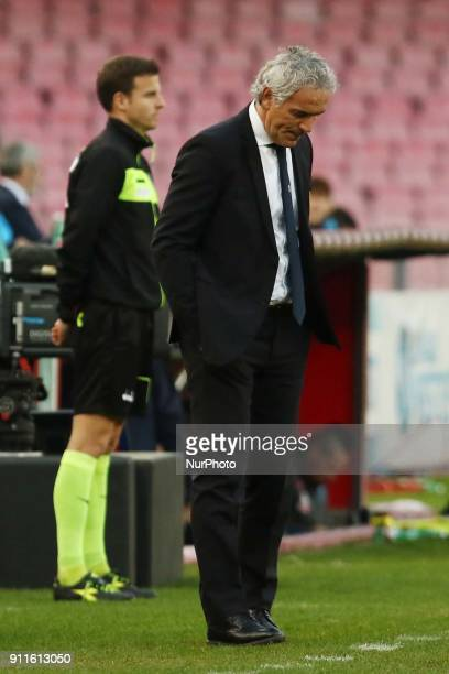 Roberto Donadoni during the Serie A match between SSC Napoli and FC Bologna at Stadio S Paolo on January 28 2018 in Naples Italy