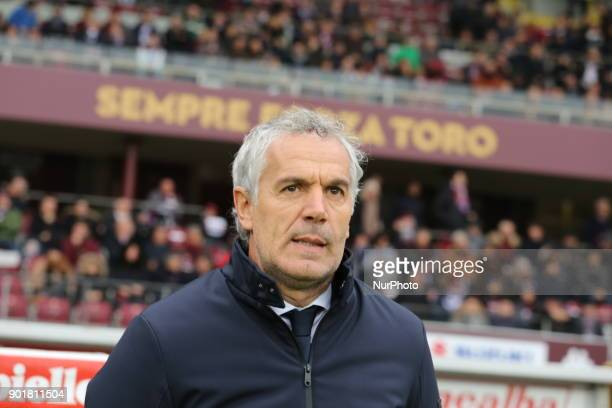 Roberto Donadoni head coach Bologna FC before the Serie A football match between Torino FC and Bologna FC at Olympic Grande Torino Stadium on 06...