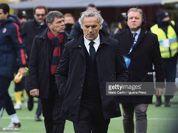 Roberto Donadoni head coach of Bologna FC looks dejectes during the Serie A match between Bologna FC and AC Chievo Verona at Stadio Renato Dall'Ara...