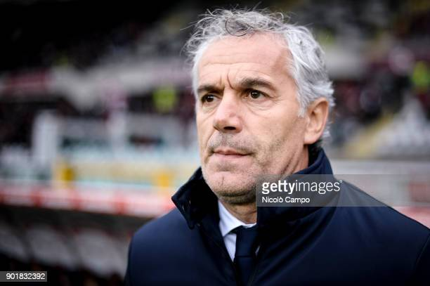 Roberto Donadoni head coach of Bologna FC looks on prior to the Serie A football match between Torino FC and Bologna FC Torino FC won 30 over Bologna...