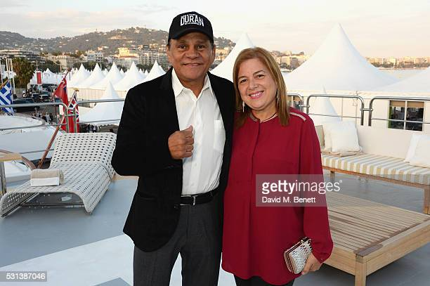 Roberto Duran and Felicidad Duran Iglesias attend The Weinstein Company's HANDS OF STONE cocktail party hosted by Absolut Elyx on May 14 2016 in...