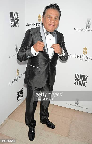 Roberto Duran attends The Weinstein Company's HANDS OF STONE Cocktail Party presented by de Grisogono at Terrasse by Albane in Cannes on May 16 2016...