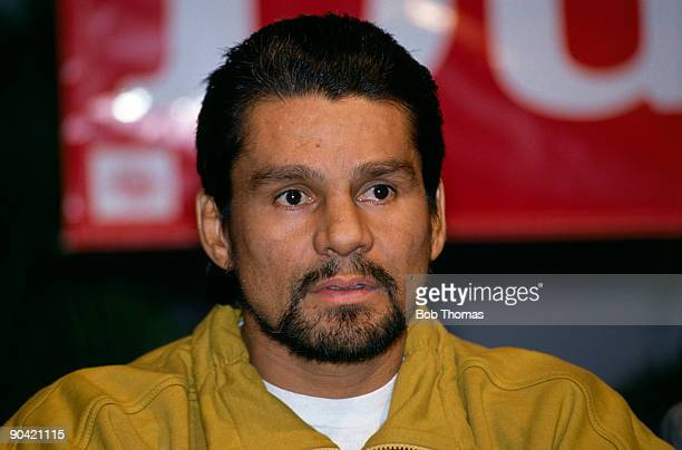 Roberto Duran of Panama in Las Vegas 8th December 1989